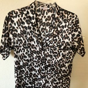 Victoria's Secret Cheetah Print Silk Sleep Top